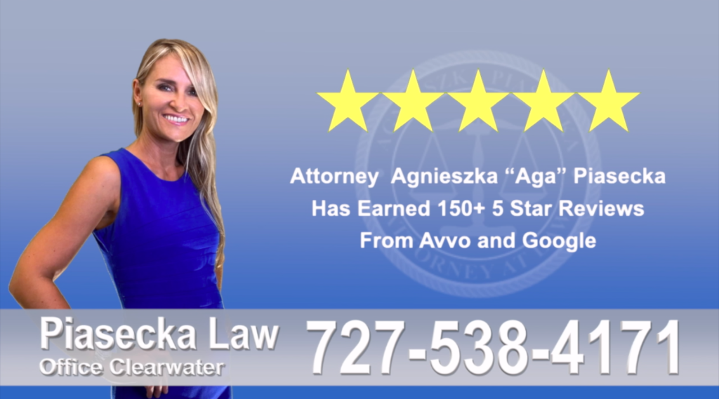 Estate Planning Clearwater, Agnieszka, Aga, Piasecka, Client, reviews, avvo, google reviews, five star, 5-star, superb, best attorney